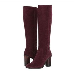 NWT burgundy over the knee booths